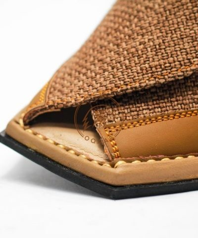 peshawar zalmi chappal-brown fabric